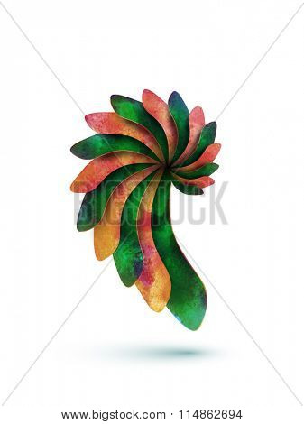 abstract vector snail shape