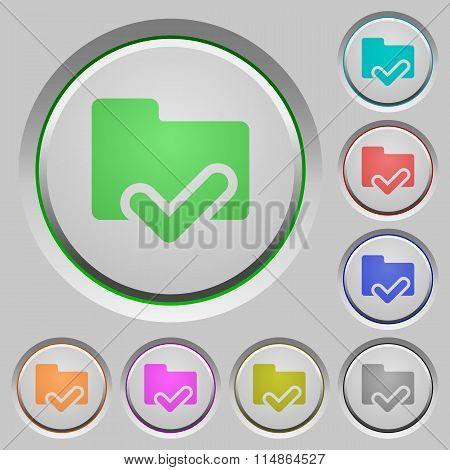 Folder Ok Push Buttons