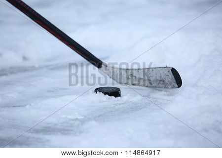Hockey Stick And Puck