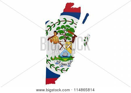Belize Flag Map