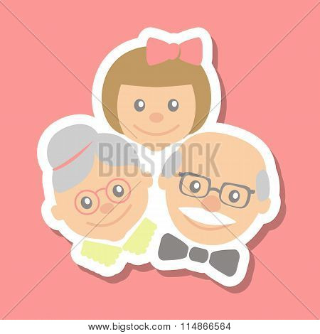 Grandparents And Granddaughter