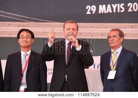 The ceremony of Third Bosphorus bridge