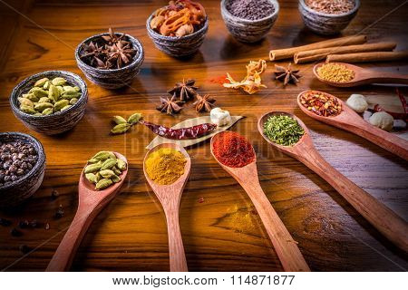 Asian Spices Of Assorted Flavors