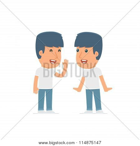 Cunning Character Activist Gossiping And Telling Secret To His Friend