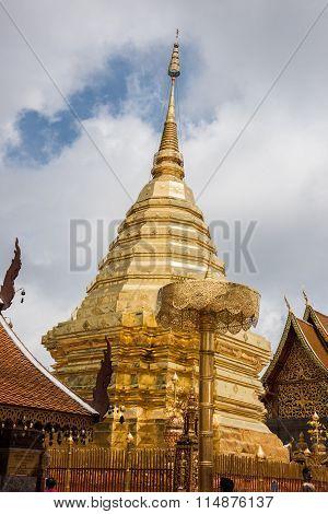 Golden Mount in Wat Phra That Doi Suthep