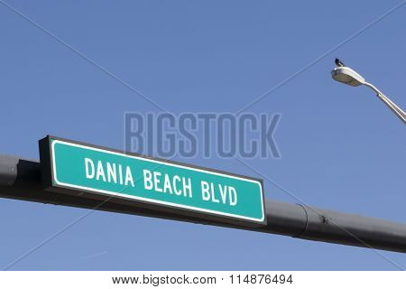 Dania Beach Boulevard Sign
