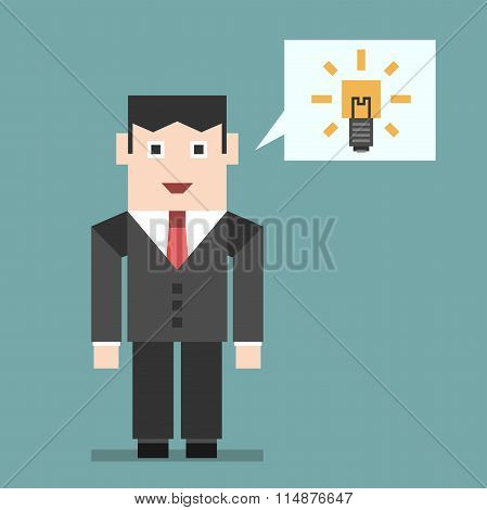 Businessman With Creative Idea