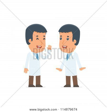 Cunning Character Doctor Gossiping And Telling Secret To His Friend