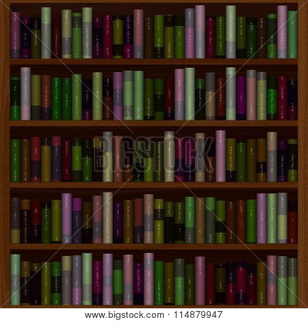 Bookcase Full Of Old Books