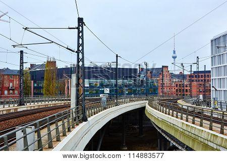 Rail way in Berlin, Germany