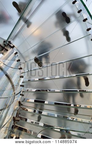 Glass Staircase.