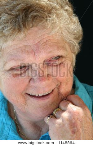 Laughing Senior Lady