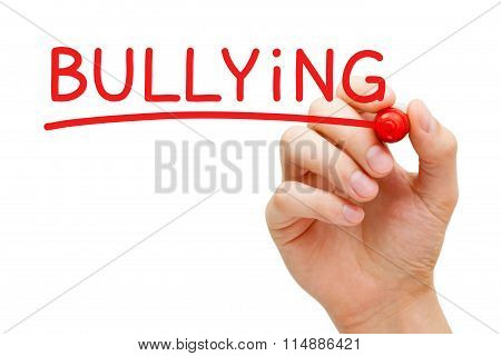 Bullying Red Marker