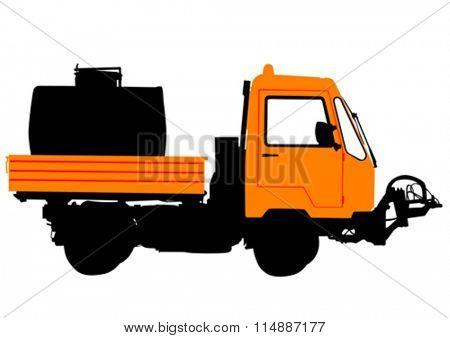 Work truck on white background