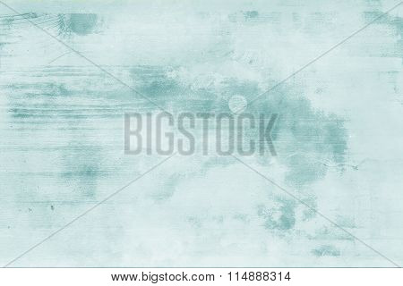 Painted Plain Blue Rustic Wood Background.