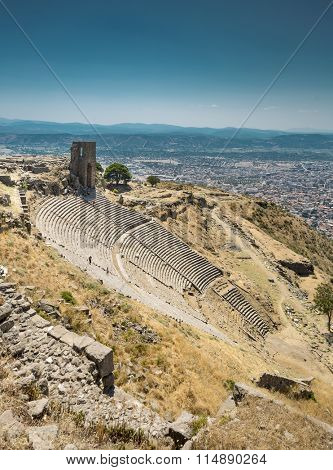 Ancient amphitheater in Acropolis of Pergamon, Turkey