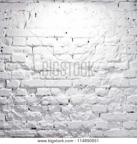 texture of brick whitewashed wall