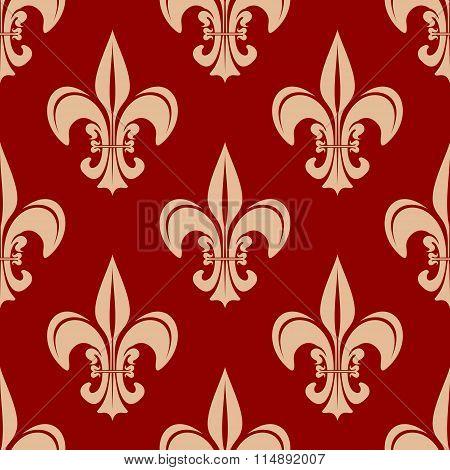 Seamless victorian royal fleur-de-lis pattern