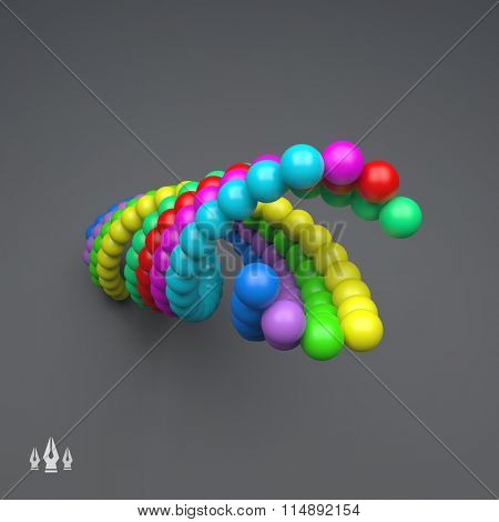 3d Colorful Spheres Composition. Vector Template. Futuristic Technology Style. Vector illustration for Web Design, Technology, Marketing, Website, Business Presentation. Art Design Element.