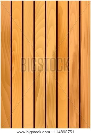 Wooden texture background with light maple planks