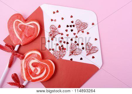 Happy Valentines Day Love Letter Envelope
