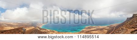 Socotra island, Yemen, panoramic view from easternmost point