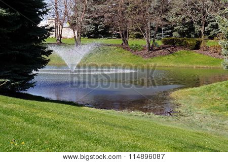 Fountain in a Drainage Ditch