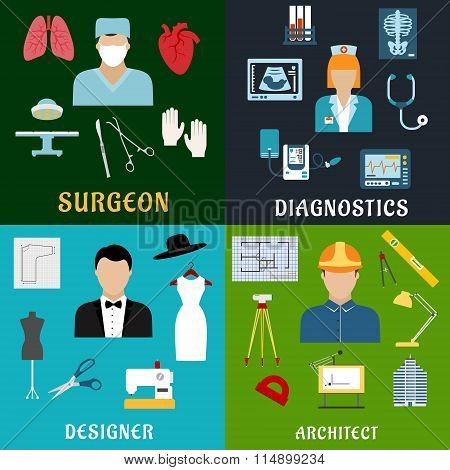 Medicine, design and construction professions