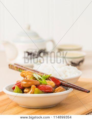 Cashew Chicken Closeup