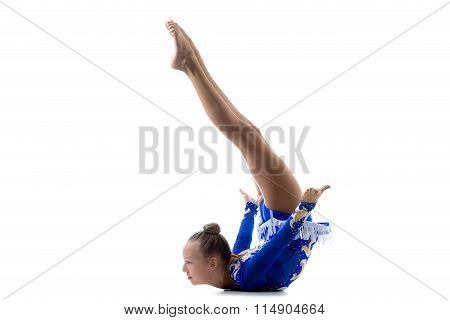 Girl Doing Art Gymnastics