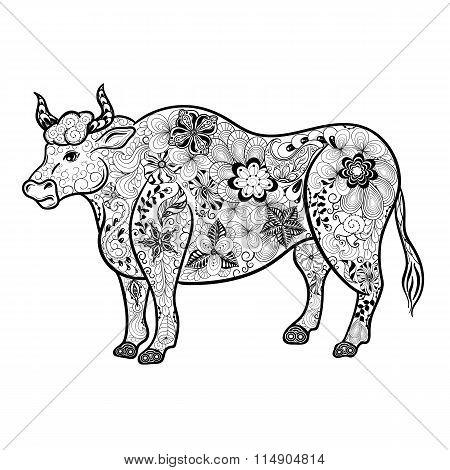 Bull  Doodle  Illustration
