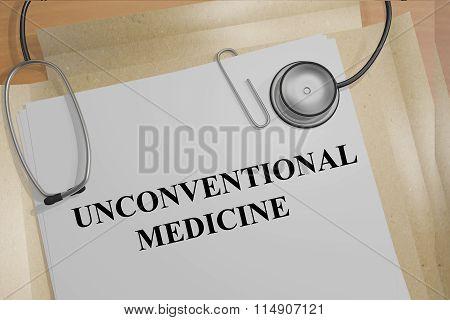Unconventional Medicine Concept