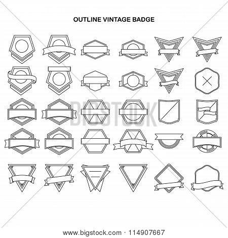 Outline vintage label collection