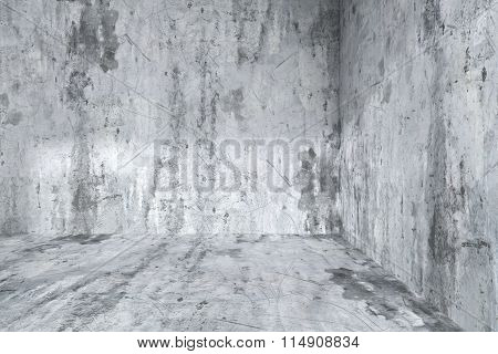 Empty Dirty Concrete Room Corner Interior