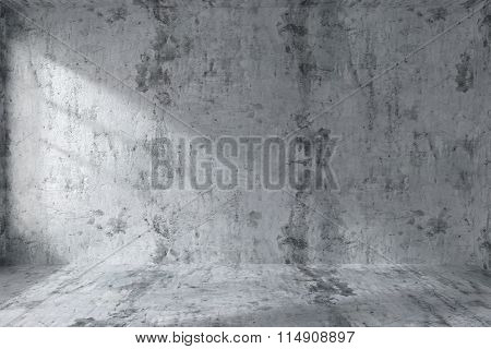 Empty Concrete Room Wall Interior