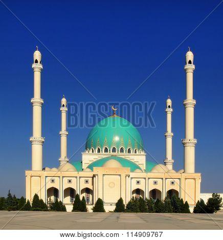 Mosque In Geok Depe. Turkmenistan.