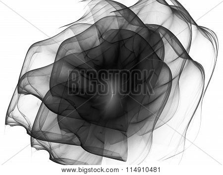 Abstract Fractal Background With The Image Of The Flower Of Fire , Flaming Roses Or Waves