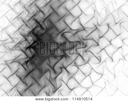 Abstract Image Of Red Texture , Metal Mesh , Waves