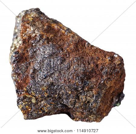 Specimen Of Magnetite Mineral Stone Isolated