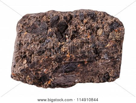Piece Of Peat (turf) Mineral Stone Isolated
