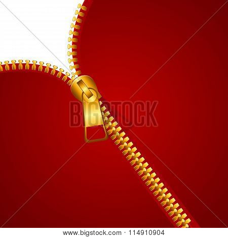 Abstract Background with Zipper Vector Illustration