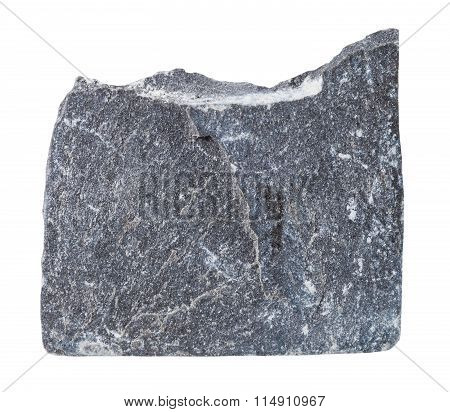 Specimen Of Slate Mineral Stone Isolated