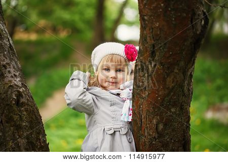 Cute Child Shone With Happiness,  Charming Smile