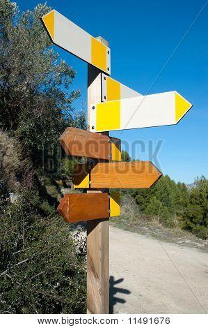Hiking Signpost