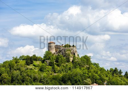 Busseol Castle, Puy-de-Dome Department, Auvergne, France