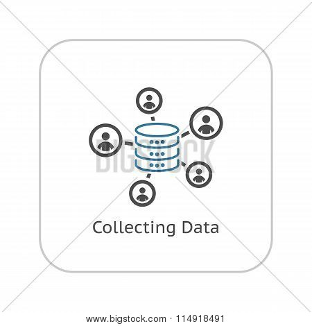 Collecting Data Icon. Flat Design.