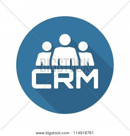 CRM System Icon. Flat Design.