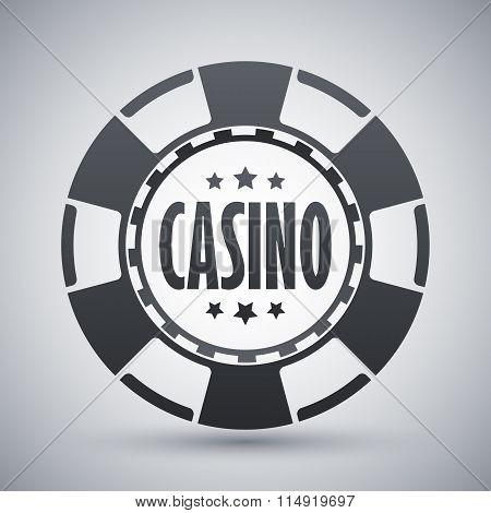 Casino Chips Icon, Vector