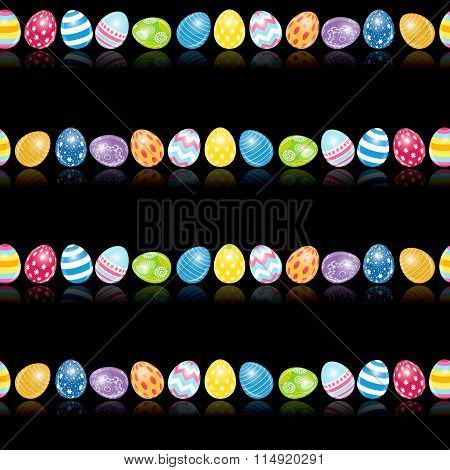 Beautiful Easter Egg Seamless Pattern Background Vector Illustration