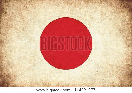 Japan Grunge Flag Illustration Of Asian Country